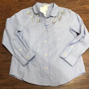 NWT Crewcuts Button Up